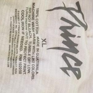 Prince Tops - PRINCE White Short Sleeve T Shirt XL